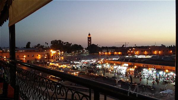 Marrakech, Djema El Fna, sunset