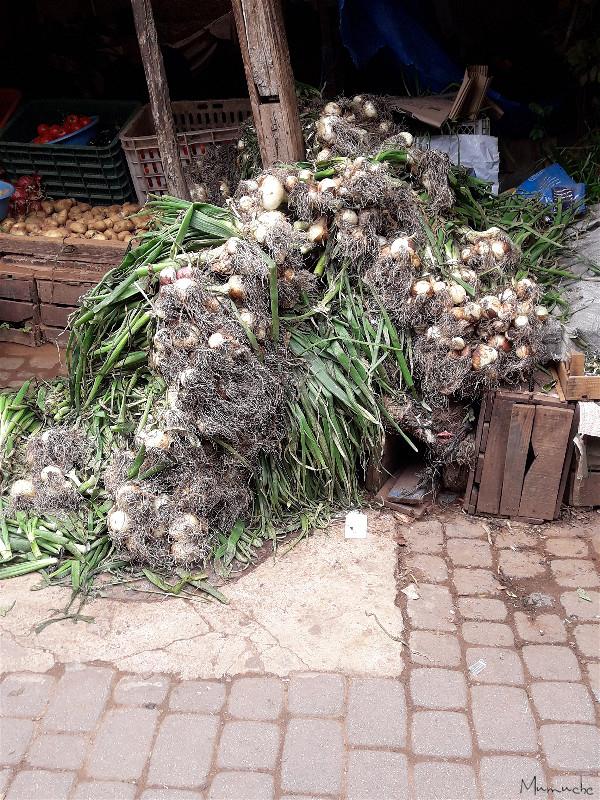 Onion market stall