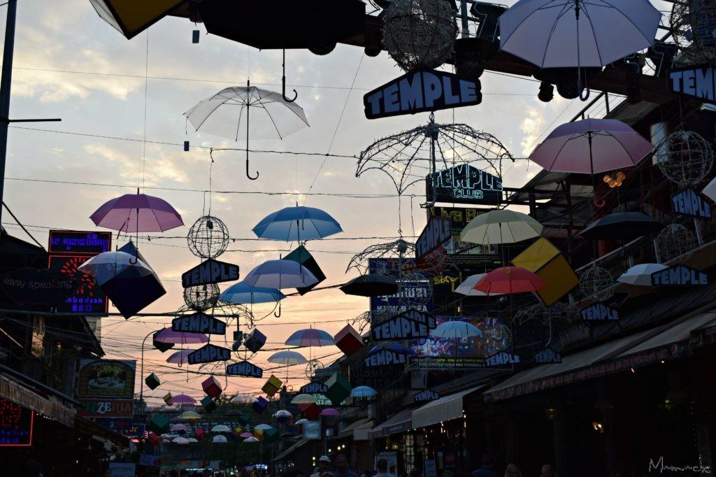 Siem Reap - Pub Street - Umbrellas