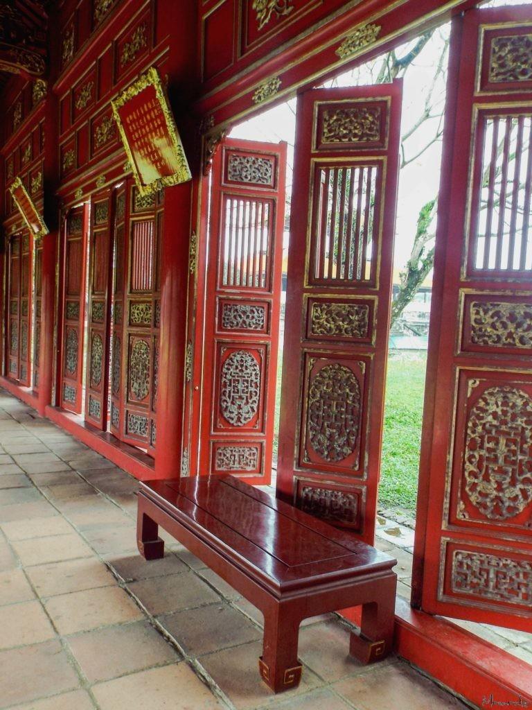 Vietnam - Hue - Red doors
