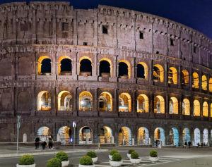 Colloseum, night, Rome