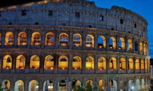 Colosseum, Rome, golden hour